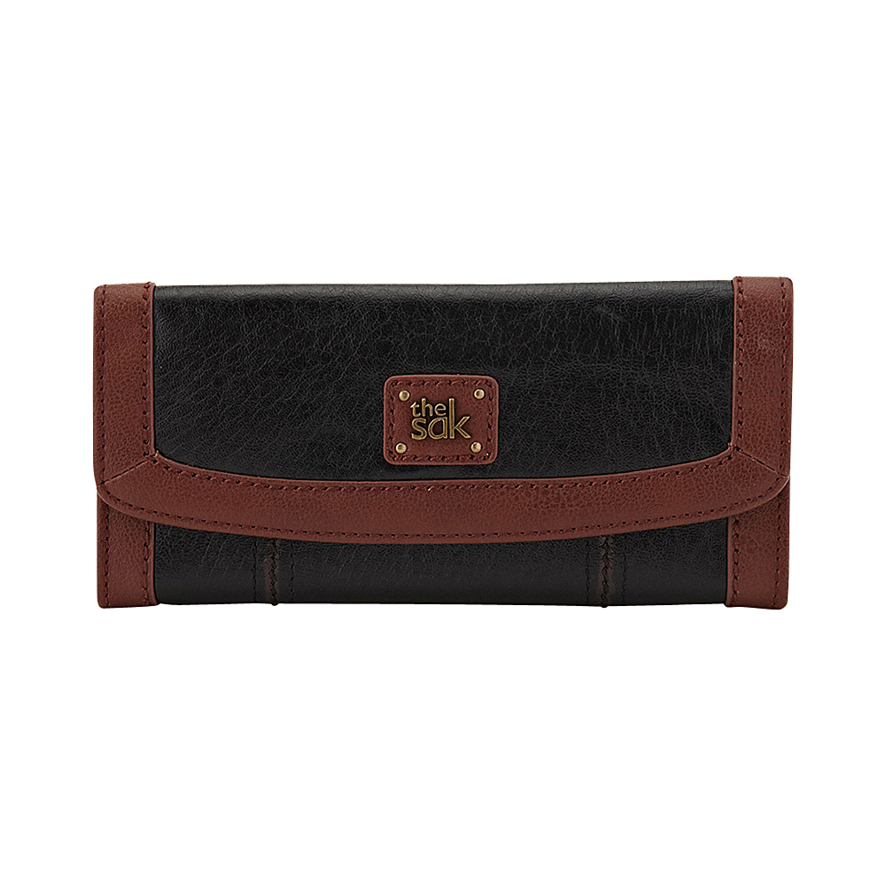 The Sak Iris Flap Wallet Black Onyx The Sak Women s Wallets