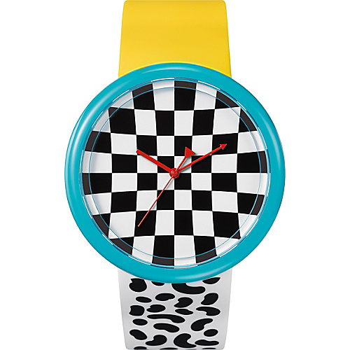 o.d.m. Watches Time Gallery BW/Blue/Yellow - o.d.m. Watches Watches