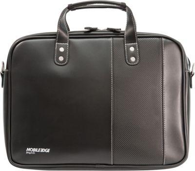 Mobile Edge Slimline Ultrabook Briefcase - 14.1 inch PC / 13 inchMacBooks Black/White - Mobile Edge Electronic Cases