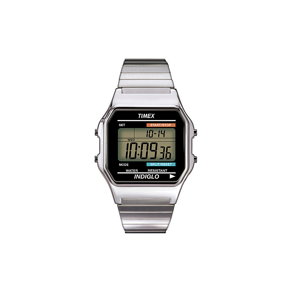 Timex Men's Digital Watch Silver - Timex Watches