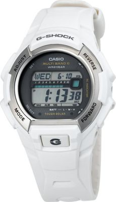 Casio Casio Men's G-Shock Solar Atomic White Watch White - Casio Watches