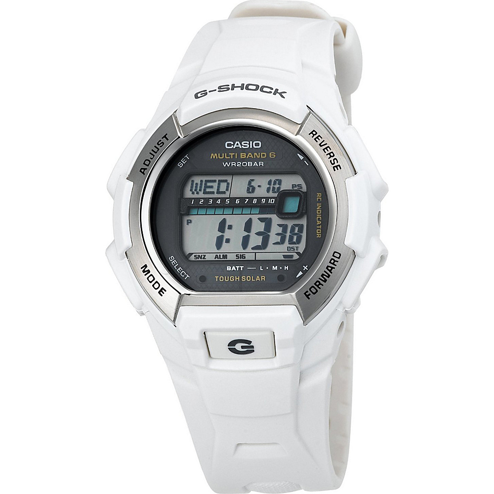 Casio Men's G-Shock Solar Atomic White Watch White - Casio Watches