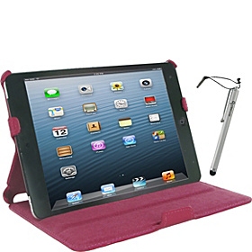Slim-Fit Folio Case w/ Stylus for iPad mini Magenta