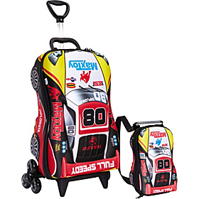 Car Super Rally Roller Bag Red