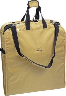 Wally Bags 52 inch Shoulder Strap Garment Bag Khaki - Wally Bags Garment Bags