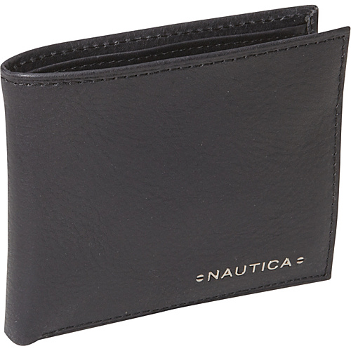 Nautica Mens Wallets Downhaul Passcase Wallet Black - Nautica Mens Wallets Mens Wallets