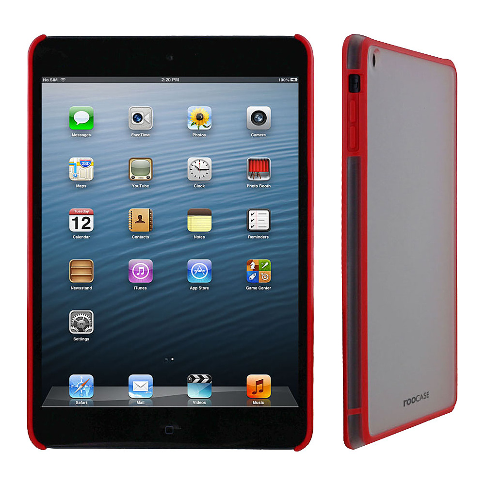 rooCASE Fuse Snap-On Shell Case for Apple iPad Mini Red - rooCASE Electronic Cases
