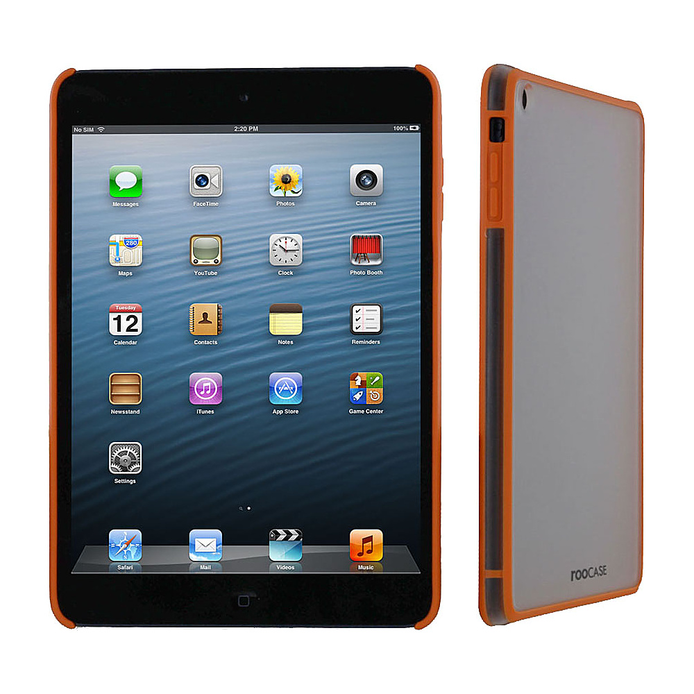 rooCASE Fuse Snap-On Shell Case for Apple iPad Mini Orange - rooCASE Electronic Cases