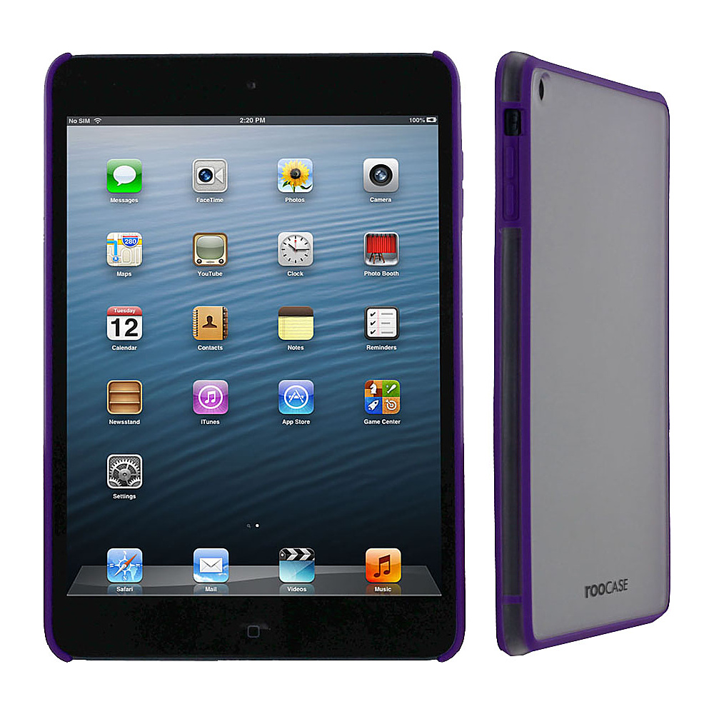 rooCASE Fuse Snap-On Shell Case for Apple iPad Mini Purple - rooCASE Electronic Cases
