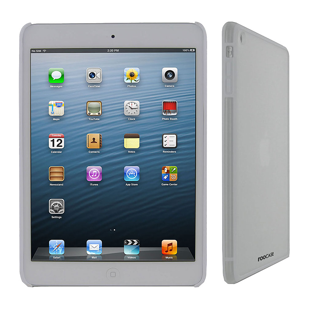 rooCASE Fuse Snap-On Shell Case for Apple iPad Mini White - rooCASE Electronic Cases