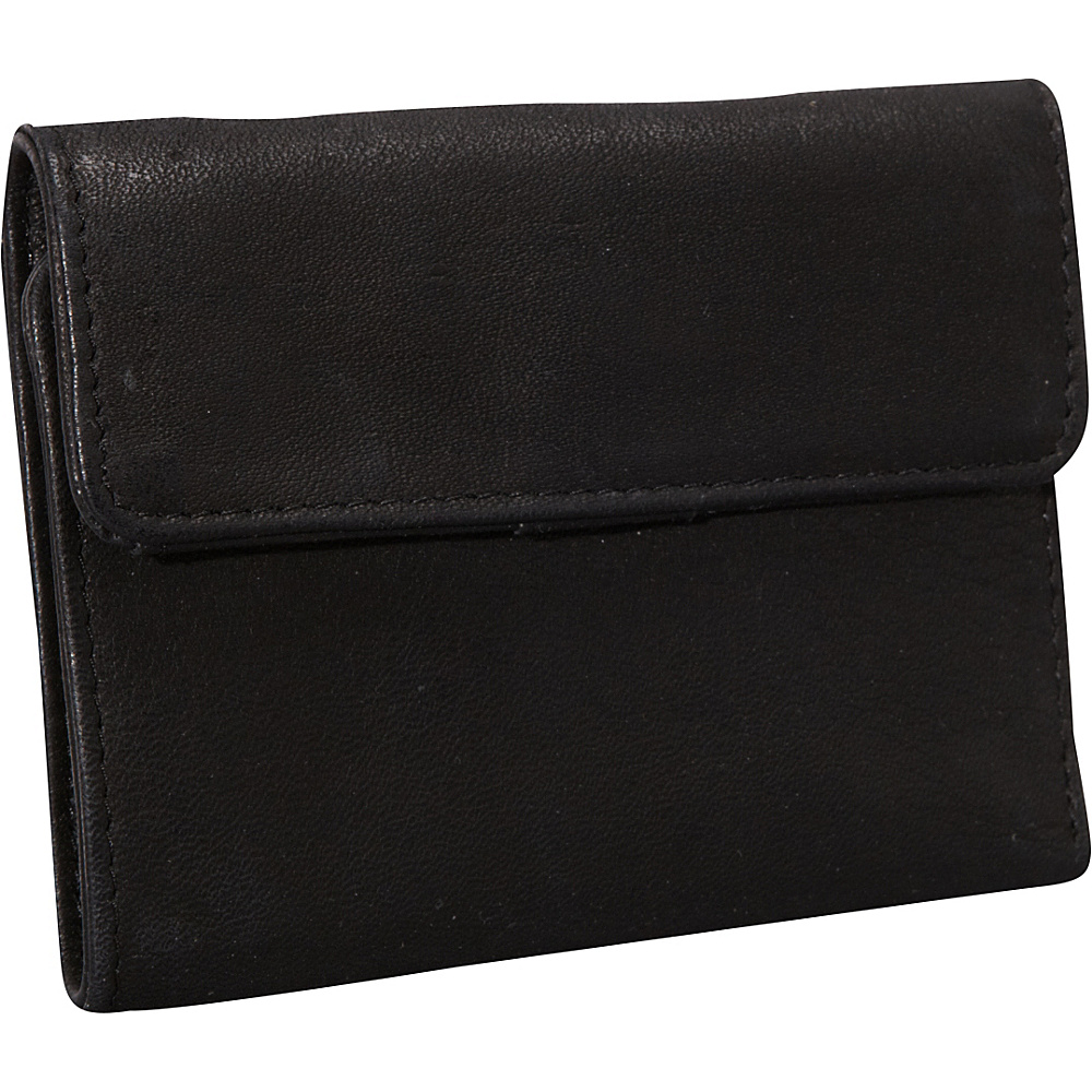 Derek Alexander Mini Tri Fold w/ Change Flap Black - Derek Alexander Womens Wallets - Women's SLG, Women's Wallets