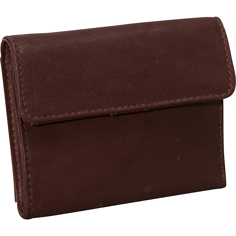 Derek Alexander Mini Tri Fold w/ Change Flap Brown - Derek Alexander Womens Wallets - Women's SLG, Women's Wallets