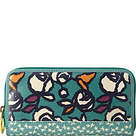 Key Per Zip Clutch Rose