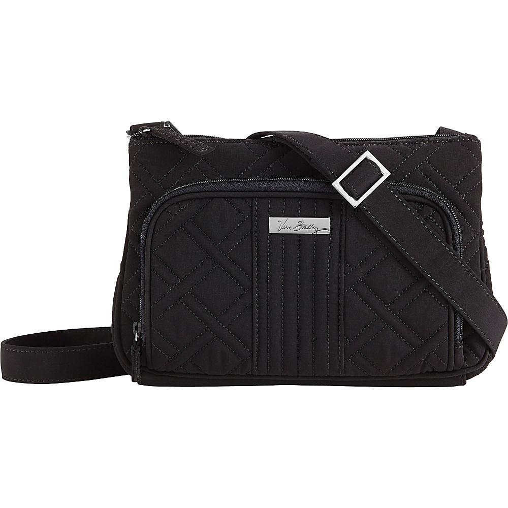 Vera Bradley Little Hipster Crossbody Solids Black Vera Bradley Fabric Handbags