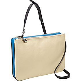 Melee Convertible iPad Clutch Blue/Butter