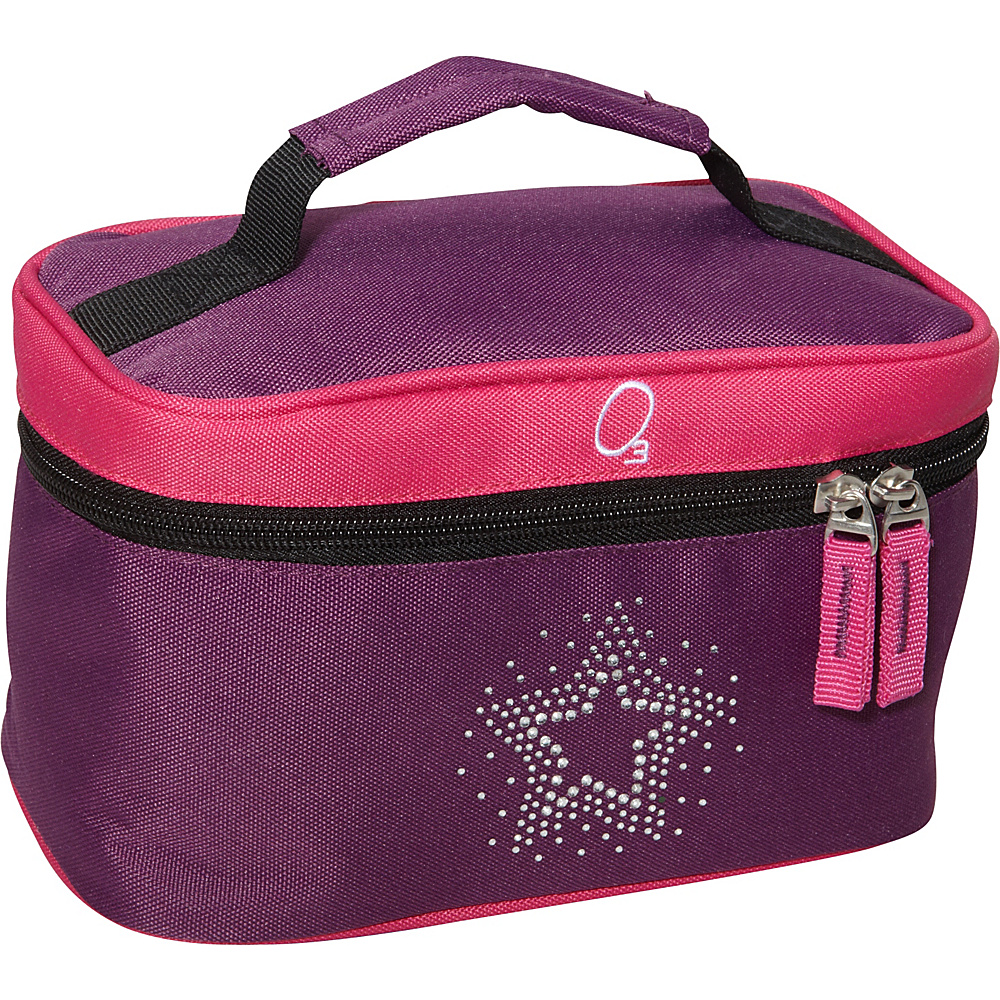 Obersee Kids Toiletry and Accessory Train Case Bag - Bling Rhinestone Star Purple Pink Bling Rhinestone Star - Obersee Toiletry Kits