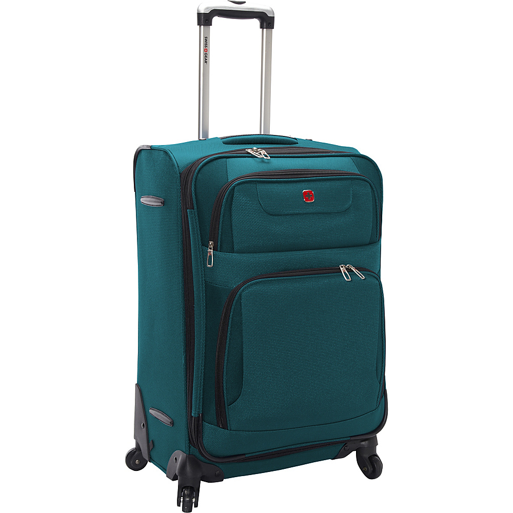 SwissGear Travel Gear 24 Expandable Spinner Teal with Black SwissGear Travel Gear Softside Checked