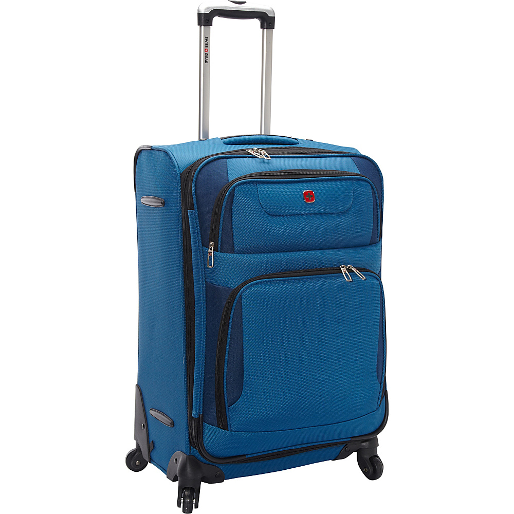"SwissGear Travel Gear 7297 24"" Expandable Spinner Blue with Black - SwissGear Travel Gear Softside Checked"
