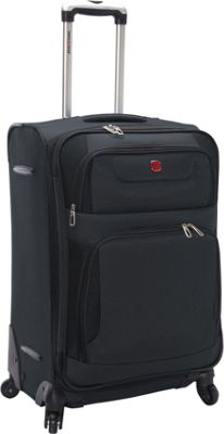 SwissGear Travel Gear 24 inch Expandable Spinner Grey with Black - SwissGear Travel Gear Softside Checked