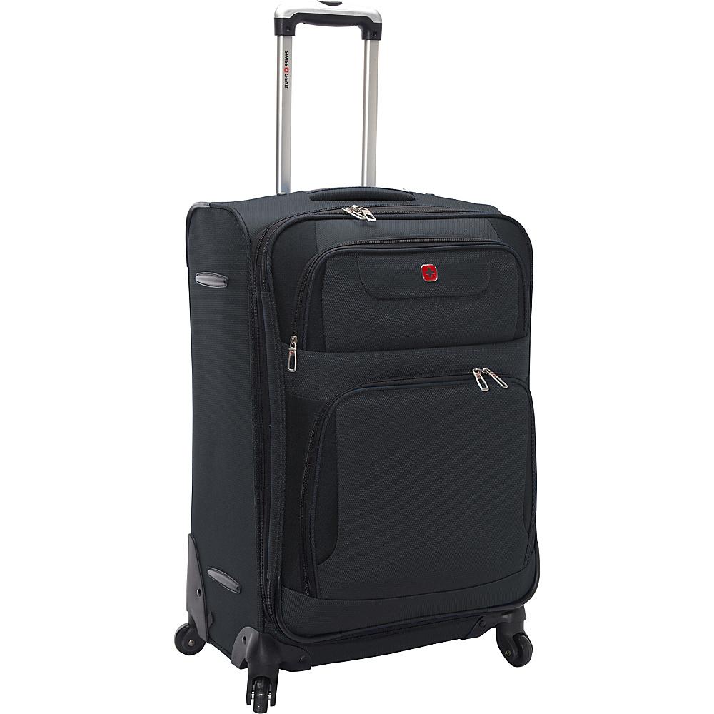 SwissGear Travel Gear 24 Expandable Spinner Grey with Black SwissGear Travel Gear Softside Checked