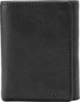 Fossil Ingram Extra Capacity Trifold Black - Fossil Men's Wallets