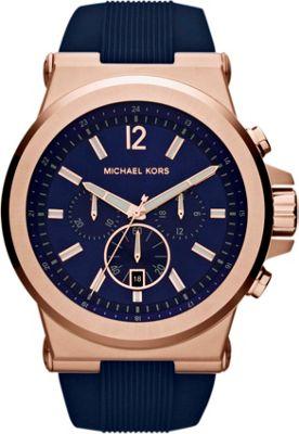 Michael Kors Watches Dylan Watch Navy Blue/Rose Gold - Michael Kors Watches Watches