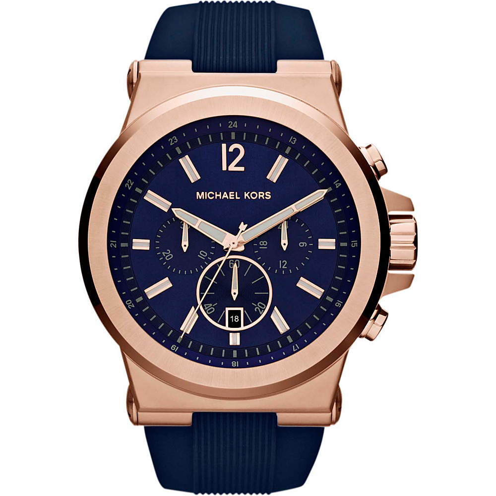 Michael Kors Watches Dylan Watch Navy Blue Rose Gold Michael Kors Watches Watches