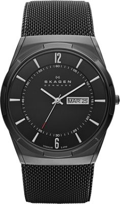 Skagen Black Mesh Watch Black - Skagen Watches