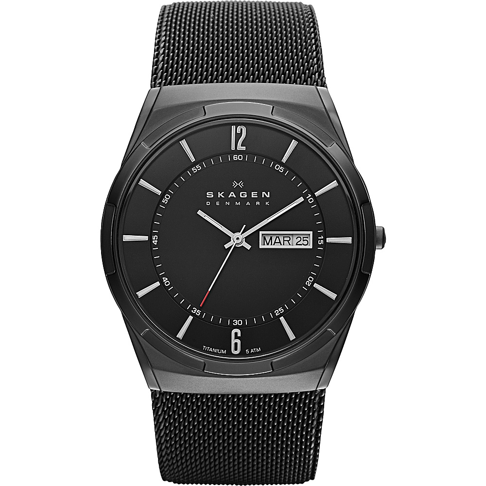 Skagen Black Mesh Watch Black Skagen Watches