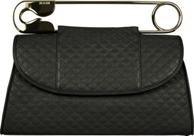 BODHI Quilted Safety Clutch Black - BODHI Leather Handbags