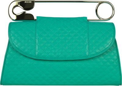 BODHI Quilted Safety Clutch Dark Turquoise - BODHI Leather Handbags