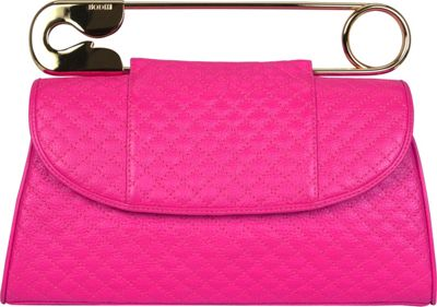 BODHI Quilted Safety Clutch Electric Pink - BODHI Leather Handbags