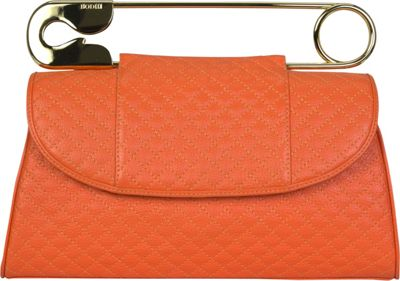 BODHI Quilted Safety Clutch Tangerine Tango - BODHI Leather Handbags