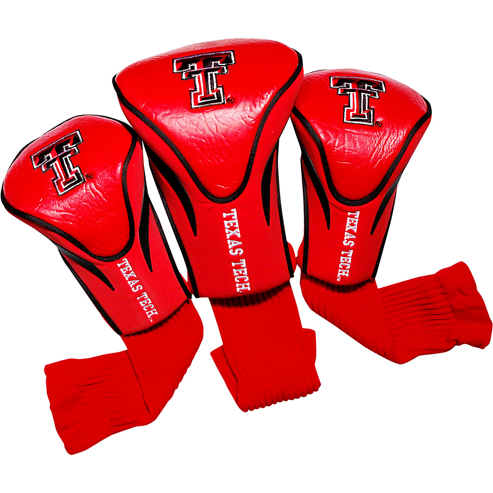 Team Golf USA Texas Tech University Red Raiders 3 Pack Contour Headcover Team Color - Team Golf USA Golf Bags