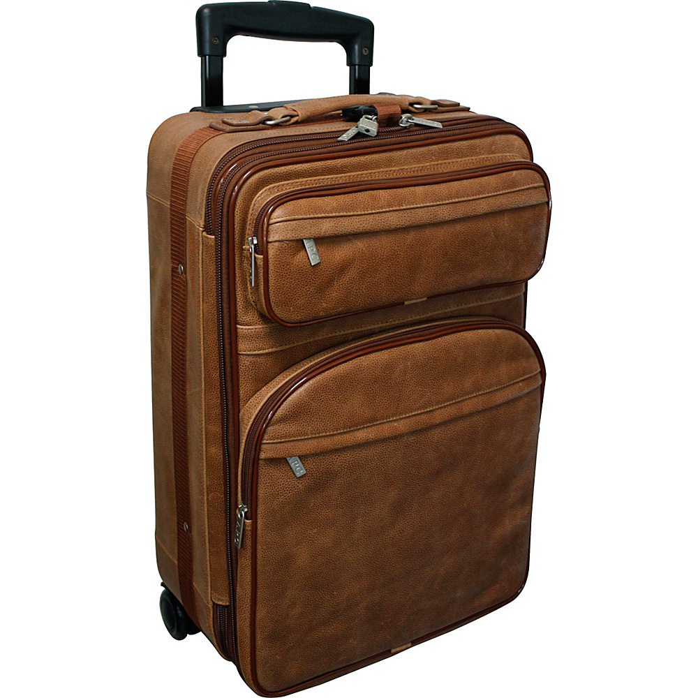 Amerileather Leather 22 Quot Expandable Carry On Pullman