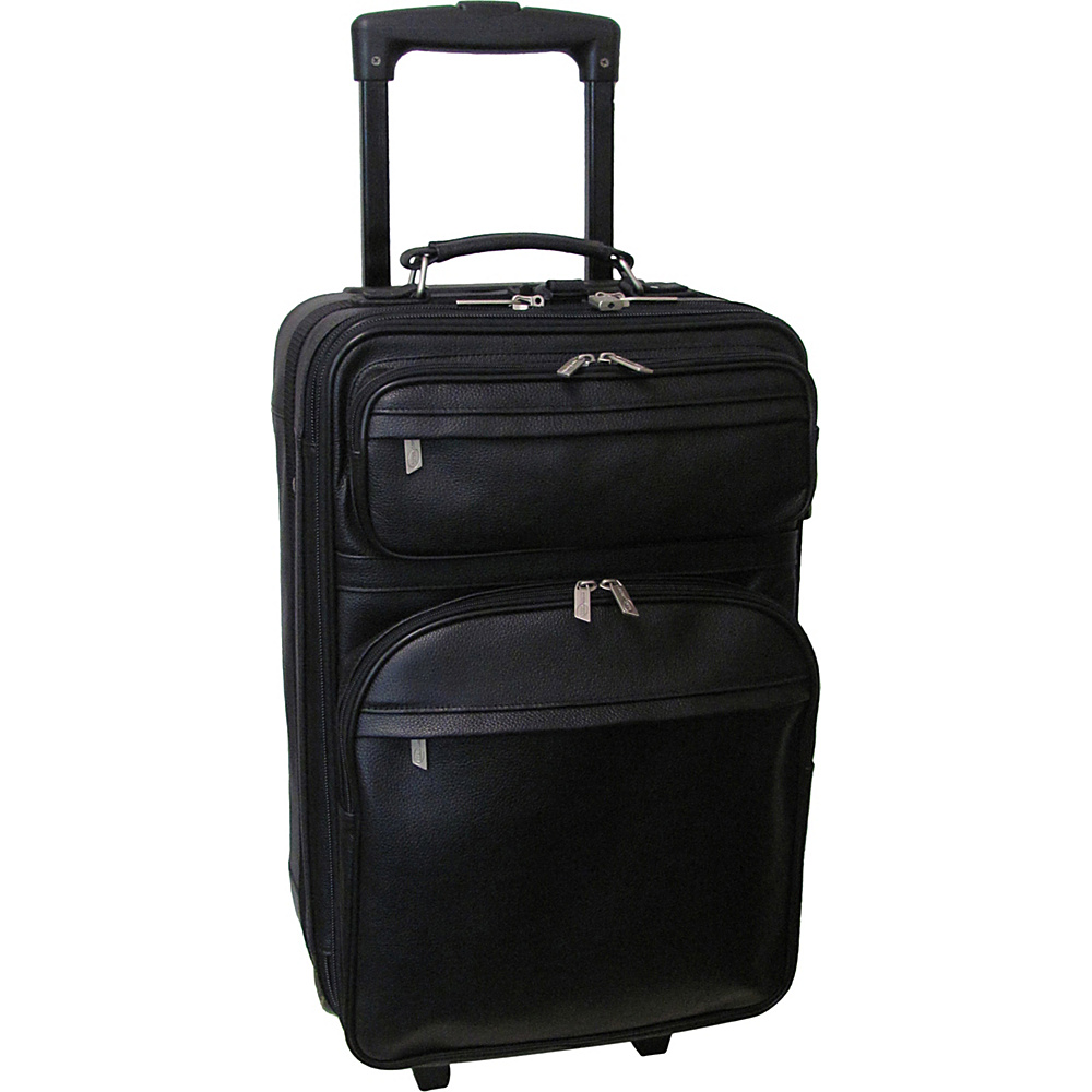 AmeriLeather Leather 22 Expandable Carry On Pullman Black - AmeriLeather Kids Luggage - Luggage, Kids' Luggage