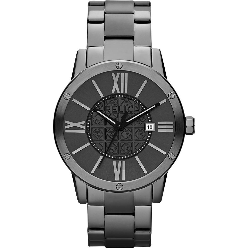 Relic Payton Gunmetal Bracelet Watch Gunmetal Relic Watches