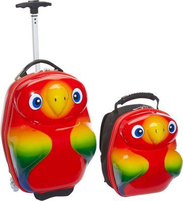 TrendyKid Popo Parrot 2 Piece Luggage Set Parrot - TrendyKid Luggage Sets