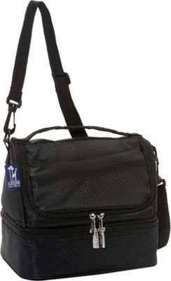 Wildkin Rip-Stop Black Two Compartment Lunch Bag Rip-Stop Black - Wildkin Travel Coolers