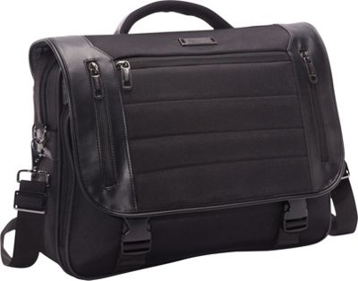 Kenneth Cole Reaction Port Ride Home - Flapover Laptop Case Black - Kenneth Cole Reaction Non-Wheeled Business Cases