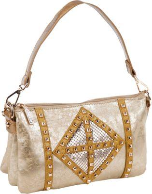 Nicole Lee Joanne Metallic Geometrics Shoulder Bag Gold - Nicole Lee Manmade Handbags