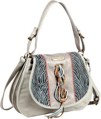 Nicole Lee Naomi Neutral Works Messenger Bag Grey - Nicole Lee Manmade Handbags