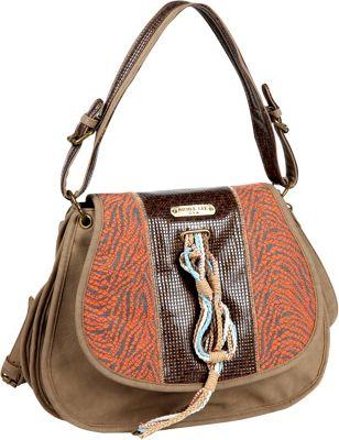 Nicole Lee Naomi Neutral Works Messenger Bag ORANGE - Nicole Lee Manmade Handbags