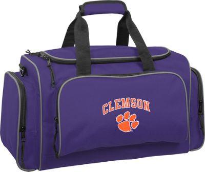 Wally Bags Clemson University Tigers 21 inch Collegiate Duffel Purple - Wally Bags Rolling Duffels