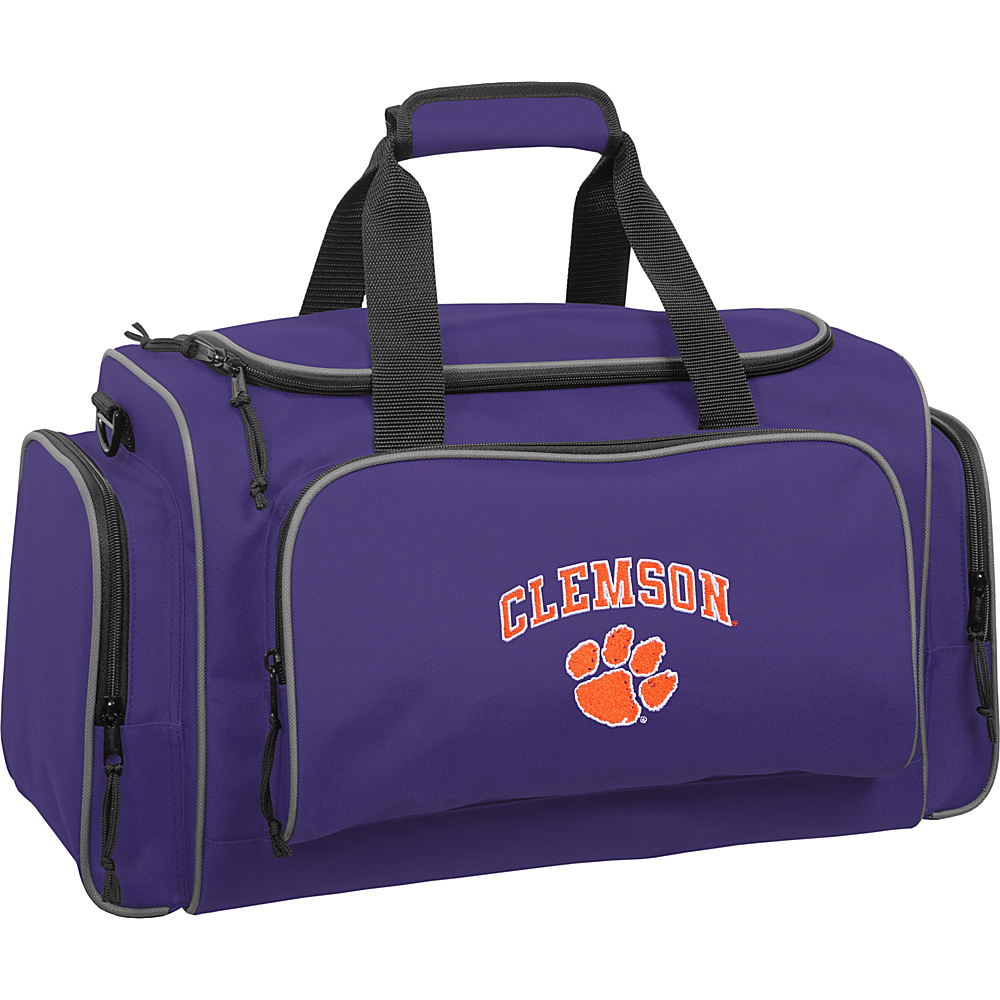 Wally Bags Clemson University Tigers 21 Collegiate Duffel Purple Wally Bags Rolling Duffels