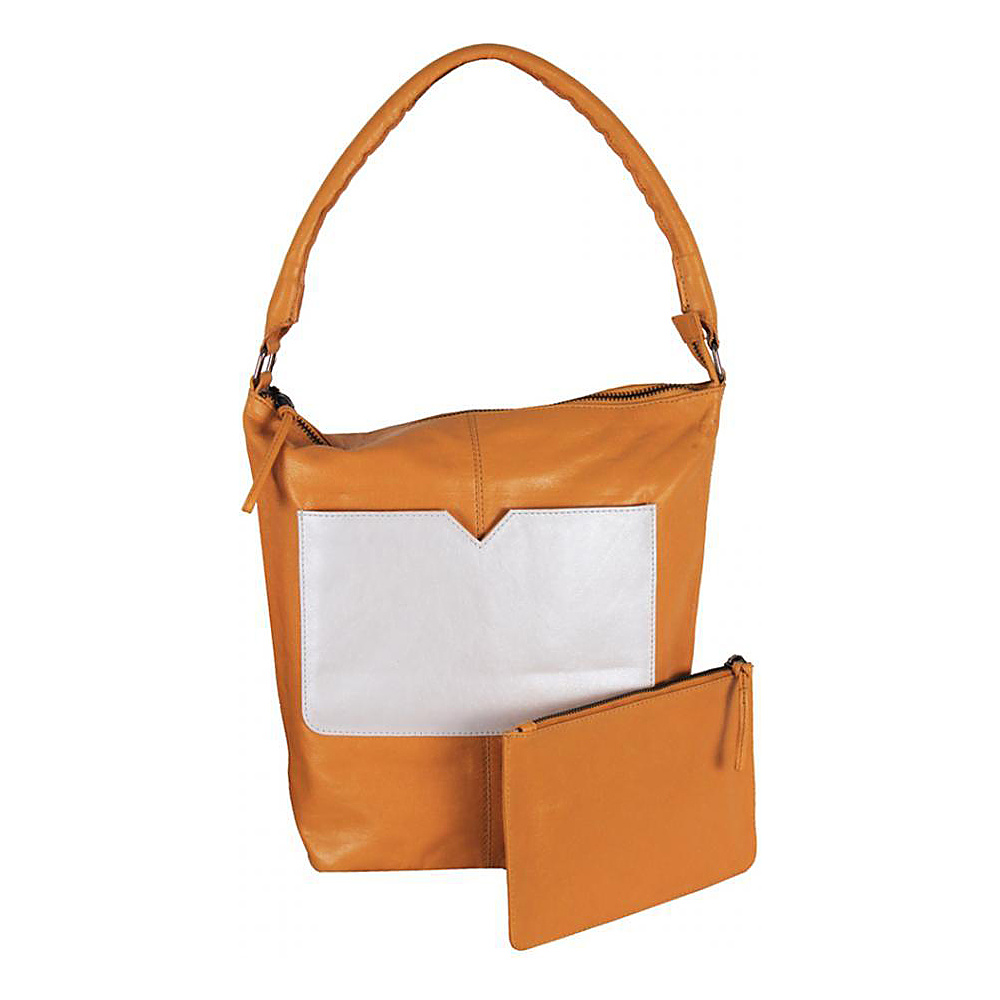 Latico Leathers Dee Dee Tote Metallic White/Gold - Latico Leathers Leather Handbags - Handbags, Leather Handbags