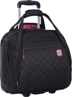 Delsey Quilted Rolling UnderSeat Tote- EXCLUSIVE Black - Delsey Softside Carry-On