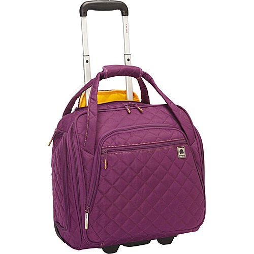 Delsey Quilted Rolling Underseat Tote Exclusive Small
