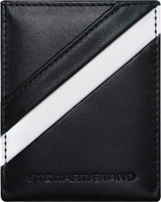 Stewart Stand Leather Tech Magnetic Money Clip Stainless Steel Wallet - RFID Black / Silver - Stewart Stand Men's Wallets