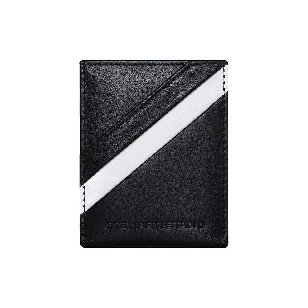 Stewart Stand Leather Tech Magnetic Money Clip Stainless Steel Wallet RFID Black Silver Stewart Stand Men s Wallets